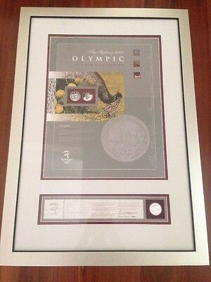 Sydney 2000 Olympic Games Framed Art / Coin Limited Edition - Silver Series
