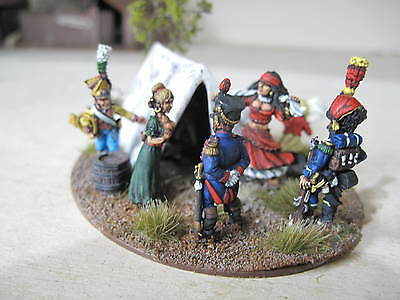 28mm NAPOLEONIC FRENCH VIGNETTE,[OFFICERS HAVEN] pro made and painted superb.