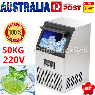 Commercial Ice Cube Maker Machine Fridge Home Polycool Bar Freezer 40-50kg/Day
