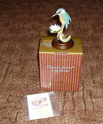 Superb New Boxed Country Artists 01892 Kingfisher With Water Lily & Fish