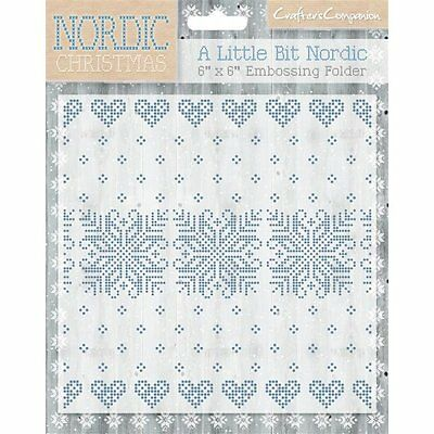 SALE New Crafters Companion Embossing Folder Christmas A Little Bit Nordic