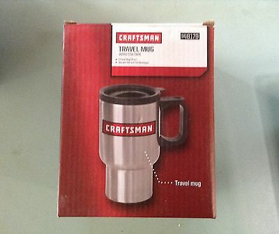 Craftsman Stainless Travel Mug Cup New