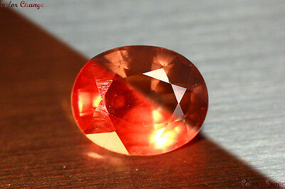 2.360 Ct Rare Natural From Earth Mined *color Change Malaya Garnet* Aaa+ Gem~!!!
