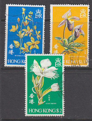 Hong Kong 1972 Orchids set fine  used