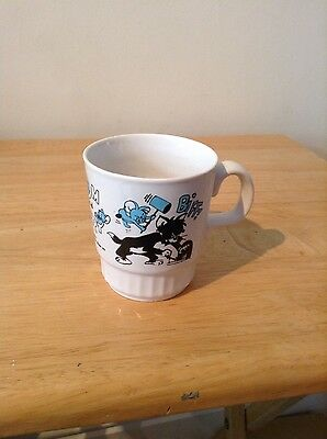 Vintage Blue & White Tom and Jerry Child's Cup 1976 In V.g.c.