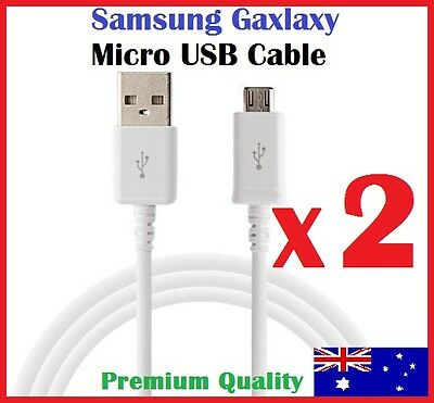Micro USB Charger Cable Data Cord for Samsung Galaxy S7 S6 S5 Note (White)