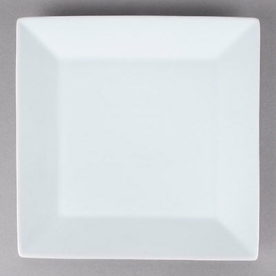 "6 NEW Core 11"" Bright White Restaurant Catering Square China Plates 303KSE20"
