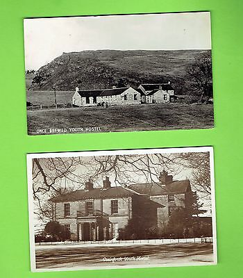 Two Old Youth Hostel Postcards,, Stainforth & Once Brewed Youth Hostels