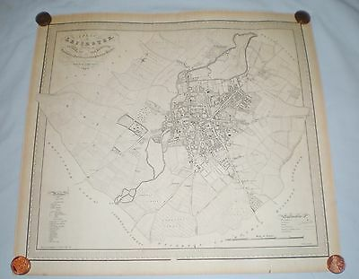 Rare Map of the City of Leicester & its Borough 1828 by J Fowler
