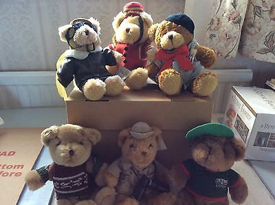 THE TEDDY BEAR COLLECTION - 6 bears in very good condition