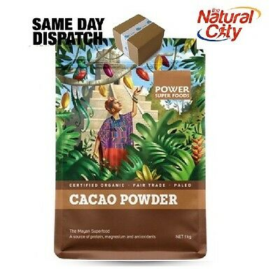 Power Super Foods Certified Organic Cacao Powder Origin Series 1Kg