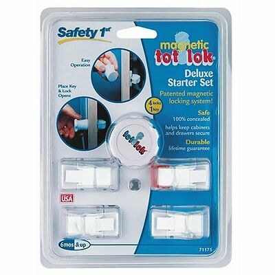 SAFETY 1st MAGNETIC TOT LOK DELUXE STARTER SET + FREE SHIPPING