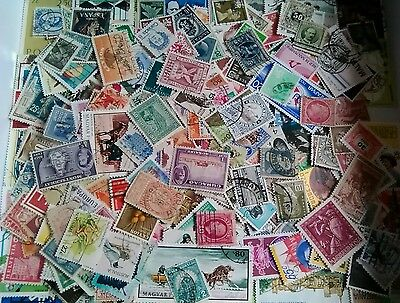 Large Great Britain and Rest of the World Stamp Collection 350+