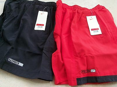 Nike ACG DRI FIT mens shorts New Blk & Red (2p/s) sz: L 1997 Vintage