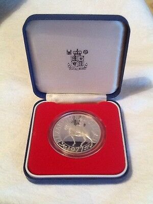 Boxed 1977 Silver Proof Crown For The Silver Jubilee