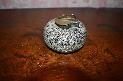 Antique Granite Curling Stone Inkwell