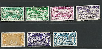Antarctica, 1 Stock Page Side, Cinderella Stamps?