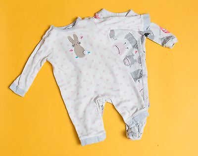 2 x John Lewis and Gap Babygrows ( 0-3 Months )  Baby Grow - great condition