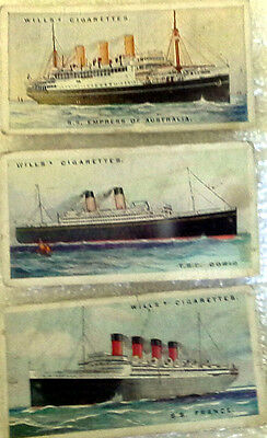 """Wills Cigarette Cards, """"Merchant Ships Of The World"""" 1920s"""