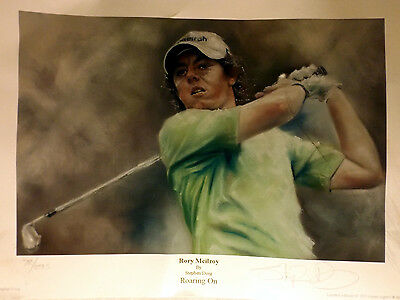 Rory Mcilroy Signed Print, Entitled Roaring On, Limited Edition, No 78 of 295