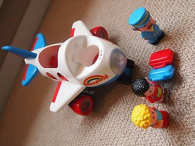 Early Learning Centre Happyland lights and sounds- FLY AND GO JUMBO AEROPLANE