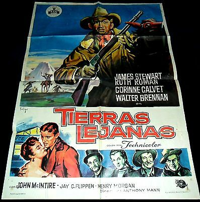 1954 The Far Country ORIGINAL SPAIN POSTER James Stewart Anthony Mann