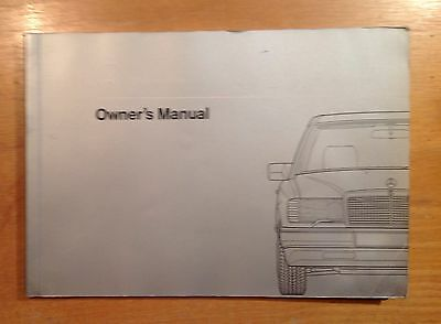 Mercedes 190E  Owners Manual