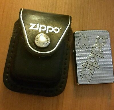 zippo lighter with zippo leather pouch