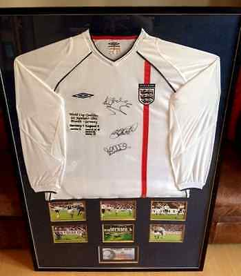 Unique England Signed Shirt from 5-1 Win over Germany World Cup Quali 2001
