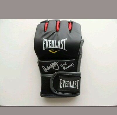 Signed Brad Pickett Martial Arts Glove Proof  COA