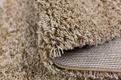 Beige Shaggy Rugs Small and Large Modern Plain 5cm Thick Soft Pile Area Rug Mats