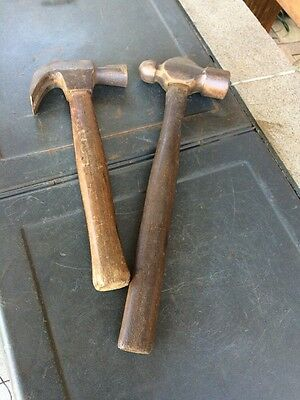 2 VINTAGE QUALITY HAMMERS. 1 x BALL PEIN & 1 x CLAW. ESTATE ITEMS
