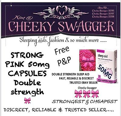 25x STRONG sleep aid SLEEPING pills tablets 50mg Pink Capsules LOW STOCK!!