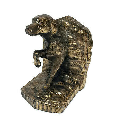 Vintage Brass POINTER Dog Single Bookend Paperweight Doorstop Hunting Dog