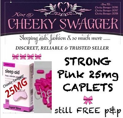 } 25x STRONG sleep aid SLEEPING pills TABLETS 25mg caplets #ALL PRICES LOWERED#