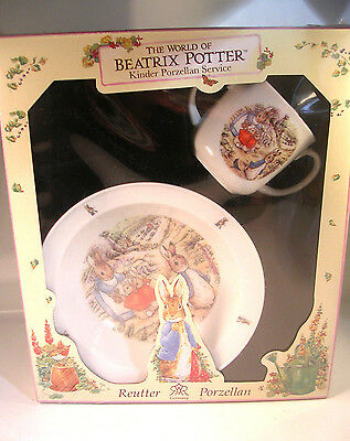 Beatrix Potter Peter Rabbit Child's Cup&Bowl Reutter Kinder Porzellan Germany
