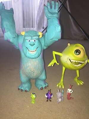 Disney Pixar Monsters Inc Large Sully and Mike with miniature figures