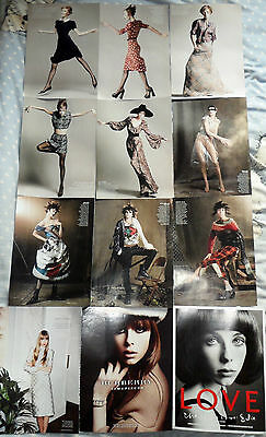 * Supermodel Edie Campbell Clippings Pack 46 Full Pages US Vogue Photoshoots + *