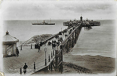 RP Card A STEAMER APPROACHING MARGATE JETTY - Posted 1913