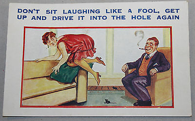 Vintage Seaside Saucy Humour Postcard By E.M Unposted
