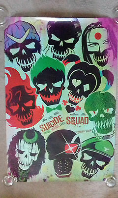 Suicide Squad Skull Cinema Poster. One Sheet. Doubled sided. DC. RARE