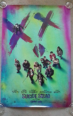 Suicide Squad Cinema Poster. One Sheet. Doubled sided. DC. RARE