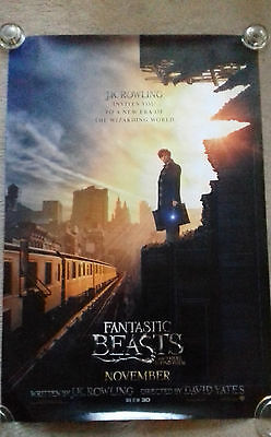 Fantastic Beasts Cinema Poster. One Sheet. Doubled sided. RARE