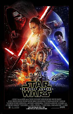 STAR WARS VII MAIN COLLAGE 11X17 Movie Poster collectible