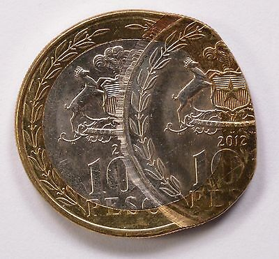Chile 2012 100 Pesos Double-Struck 2nd Strike 50% Off-Center BU