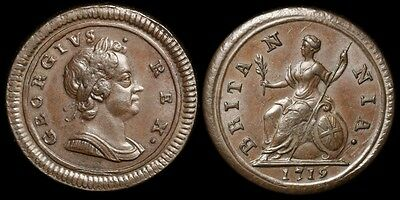 GREAT BRITAIN 1719 George I ¼d. S-3662