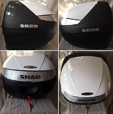 Top Case Shad Sh29  29L Moto Scooter Black & White