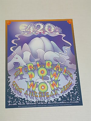 MOONALICE 420 TRIBAL POW WOW CONCERT POSTER by LEE CONKLIN