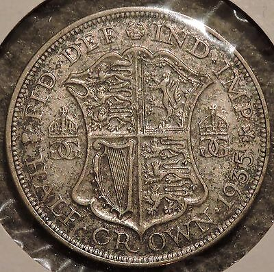 British Silver Half Crown - 1935 - King George V - $1 Unlimited Shipping
