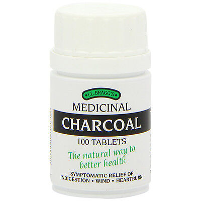 Bragg's Medicinal Charcoal 100 Tablets Highly Refined The Natural Way For You